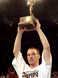 Jerry Mcnamara with 2006 Big East Tournament MVP trophy.